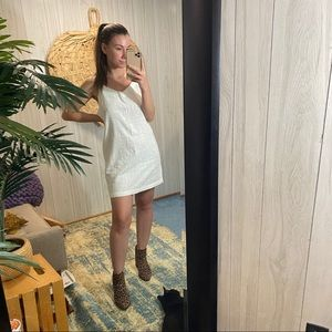 NEW Rhythm White Cotton Malta Dress 12/L